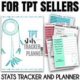 Business stats and Social Media Tracker for TPT sellers