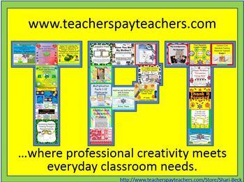 TPT...Where Professional Creativity Meets Everyday Classroom Needs