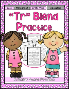 TR Blend Practice Printables
