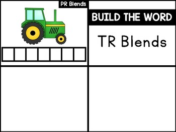 TR Blends Phonics Center:  Build the Word