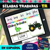 TR Syllables in Spanish - Sílabas Trabadas TR - Boom Cards