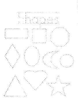 TRACE & COLOR 10 Shape Booklet for Kindergarten