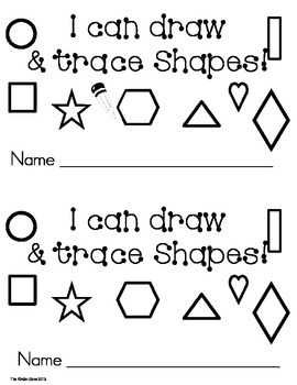 TRACE & DRAW SHAPES ** EMERGENT LEVELED READER BOOK!!