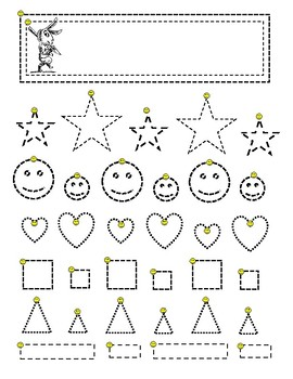 trace fine motor skills pre write worksheet homework shapes patterns. Black Bedroom Furniture Sets. Home Design Ideas