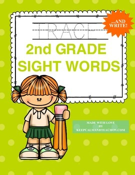 TRACE & WRITE Second Grade (2nd) Sight Words