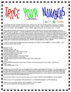 TRACE YOUR NUMBERS 1-20 + MORE