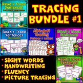 TRACING BUNDLE: Alphabet, Animals, Fruits & Vegetables, The Weather and Shapes