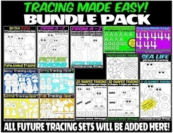 TRACING CLIPART MEGA BUNDLE PACK