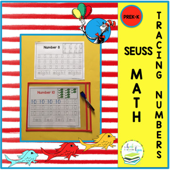 TRACING NUMBERS 1-10 SEUSS CLIPART