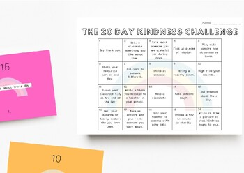 TRACKER: The 20 Day Kindness Challenge (K-2)