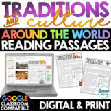TRADITIONS & CULTURE Around the World Reading Passages | Google Classroom