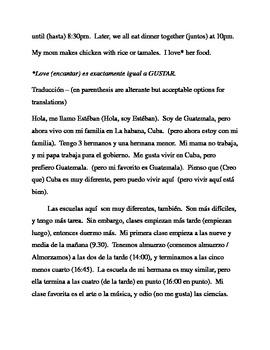 TRADUCE a espanol / TRANSLATE to Spanish