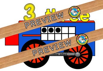 TRAIN NUMBER LINE: FUN NUMBER POSTERS WITH TEN FRAMES AND NUMBER WORDS