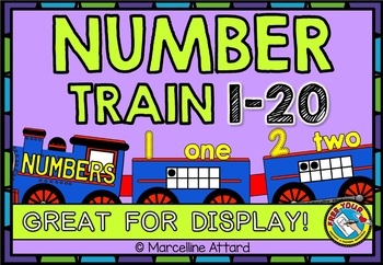 TRAIN NUMBER LINE: FUN NUMBER POSTERS WITH TEN FRAMES AND