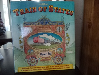 TRAIN OF STATES   FIFTY  STATE PLATES AND MAP SKILLS