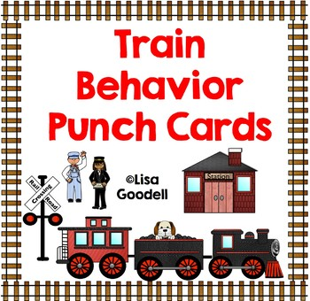TRAIN Theme Behavior Punch Cards - Regular Ed, Special Ed