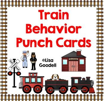 TRAIN Theme Behavior Punch Cards - Good for Regular Ed, Sp