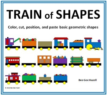 TRAIN of SHAPES 2D Color Cut Paste