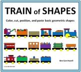 TRAIN of SHAPES (2D shapes Color Cut Paste)