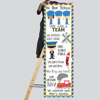 TRAIN theme - Classroom Decor: X-LARGE BANNER, In Our School
