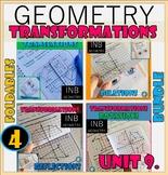 TRANSFORMATION-UNIT 9.GEOMETRY Interactive Notebooks Bundl