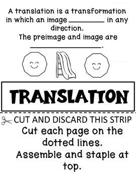 TRANSFORMATIONS  FLIP BOOK VIRGINIA SOL 4.11