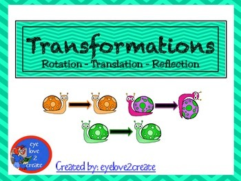 TRANSFORMATIONS {POSTERS} [Translation] [Reflection] [Rotation]