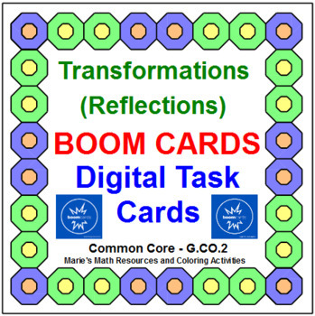 """TRANSFORMATIONS - REFLECTIONS: """"DIGITAL"""" BOOM CARDS (45 TASK CARDS)"""