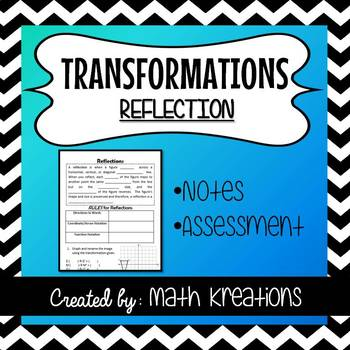 TRANSFORMATIONS - Reflections Notes & Assessment