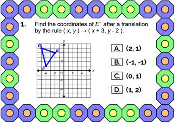 "TRANSFORMATIONS - TRANSLATIONS: ""DIGITAL"" BOOM CARDS (45 TASK CARDS)"