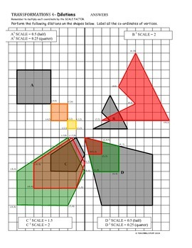 TRANSFORMATIONS on the COORDINATE PLANE - TRANSLATIONS, ROTATIONS, REFLECTIONS