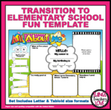 Kids Own Perspective - My Transition to Kindergarten/Elementary School Template