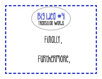 TRANSITION WORDS - ANCHOR CHARTS FOR WRITING