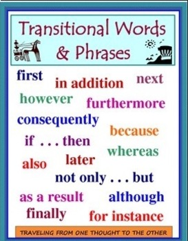 TRANSITIONAL WORDS/PHRASES -SHOWING RELATIONSHIPS WITHIN A