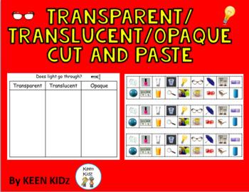 TRANSPARENT/ TRANSLUCENT/OPAQUE