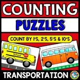TRANSPORTATION COUNTING TO 120 (SKIP COUNTING ACTIVITIES AND SEQUENCING)