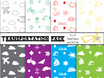 TRANSPORTATION!!! Digital Paper Pack