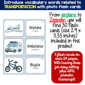 TRANSPORTATION (ESL): MINI BUNDLE (flash cards and vocabulary puzzles)