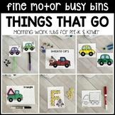 TRANSPORTATION Fine Motor Busy Bins - morning work tubs (Pre-K & Kinder)