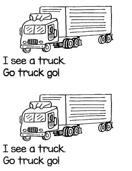 """TRANSPORTATION """"GO GO GO"""" .... EMERGENT READER BOOK! * GREAT FOR READ TO SELF!"""