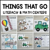 TRANSPORTATION Literacy & Math Centers (Preschool, PreK, K