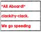 TRANSPORTATION POCKET CHART RIDDLES
