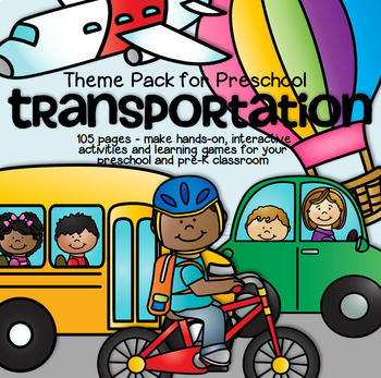 TRANSPORTATION Math and Literacy Centers for Preschool and Pre-K