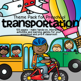 TRANSPORTATION Math Literacy Centers Activities Printables Preschool 101 Pages