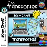 TRANSPORTES y su medio - Boom Cards Distance Learning (Spa