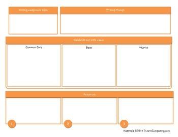 TRAP the Common Core - lesson plan organizers