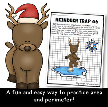 TRAPPED: Bundle of Area and Perimeter Activities for Grades 3-5