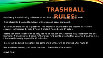 TRASHBALL - Area of Circles and Circumference - TRASHKETBALL