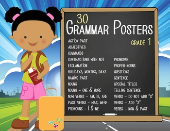 TRAVEL - 1st grade GRAMMAR posters / Scott Foresman Reading