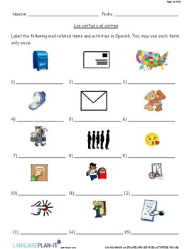 TRAVEL AND SERVICES ACTIVITIES, VOCAB (SPANISH)